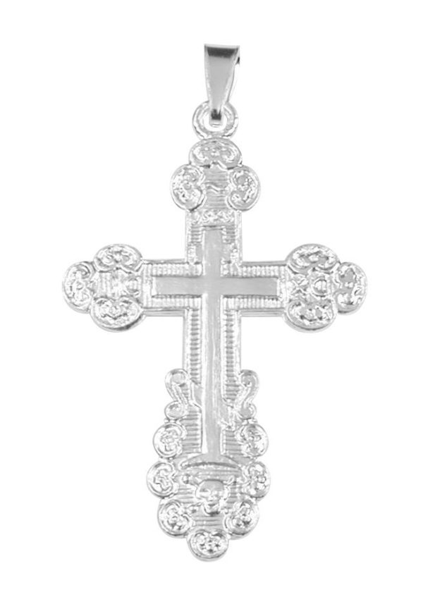 hopeinen ortodoksi ristiriipus